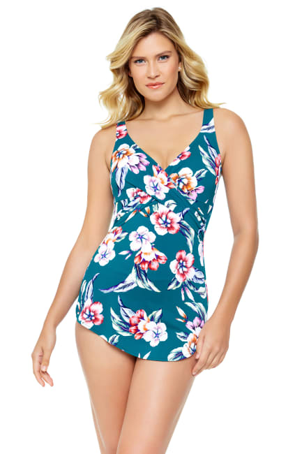 Vintage Floral Cross Over Sarong One Piece
