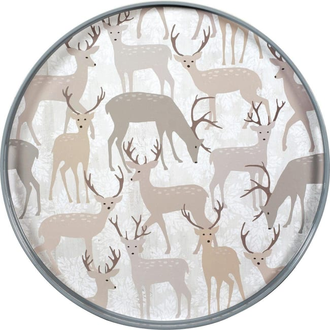 Winter Stags Coco Tray 18 inch