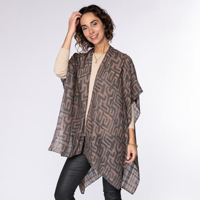 Jess Black Kimono Wrap
