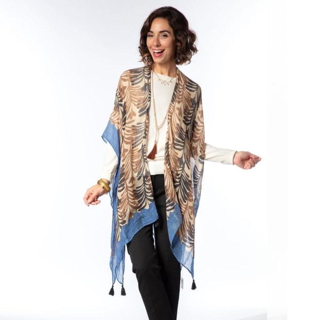Georgia Tan Kimono Scarf
