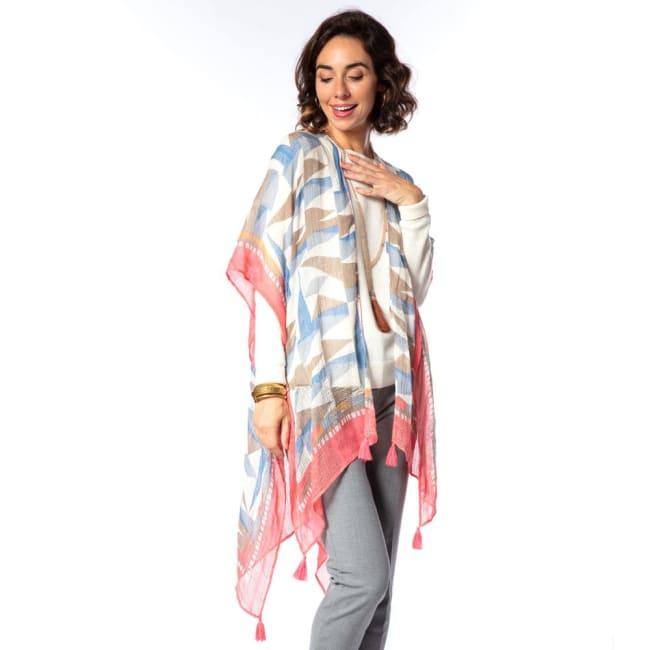 Arianna Grey Kimono Scarf