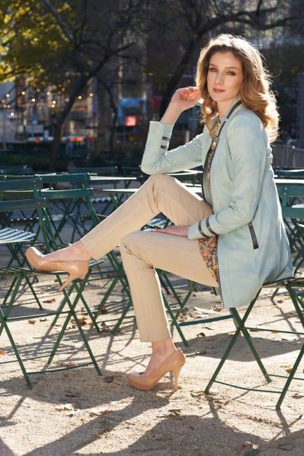 Lena Gabrielle Faux Leather Long Jacket