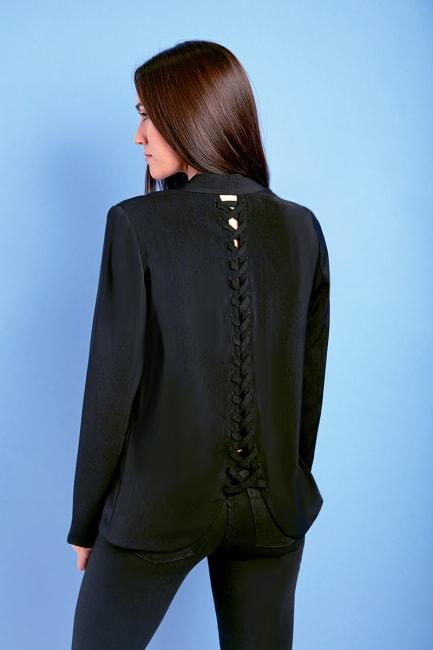 Dora Landa Laced Up Detail Back Breanna Jacket