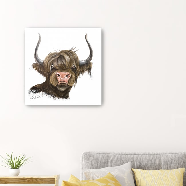 Clarabelle the Highland Cow Canvas Giclee