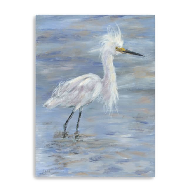 Egret Canvas Giclee