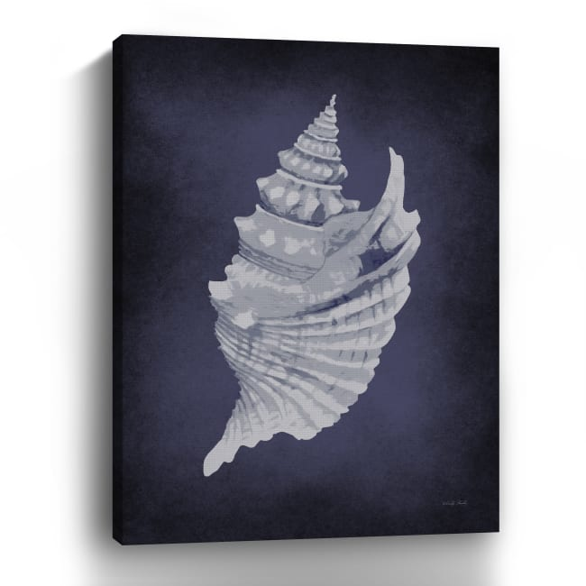 Blue Seashell I Canvas Giclee