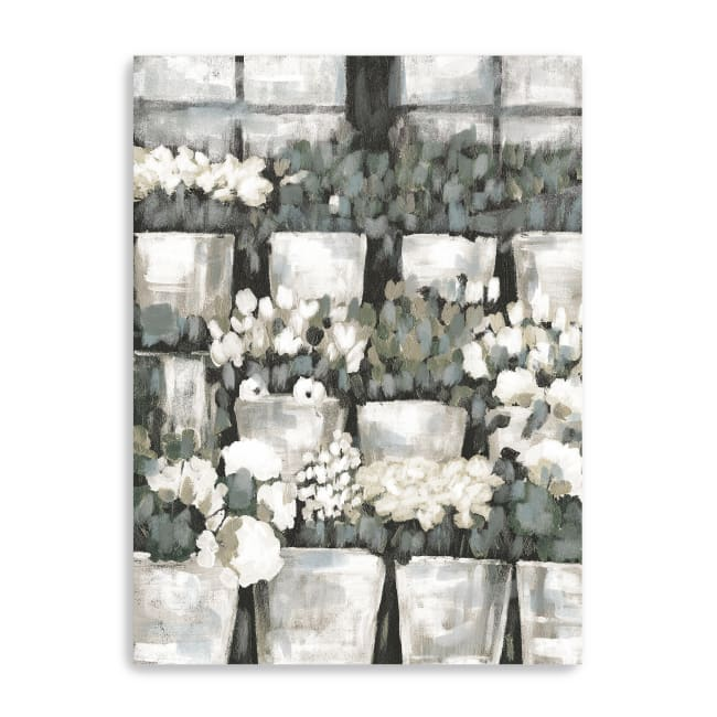 Rows of Flowers Canvas Giclee