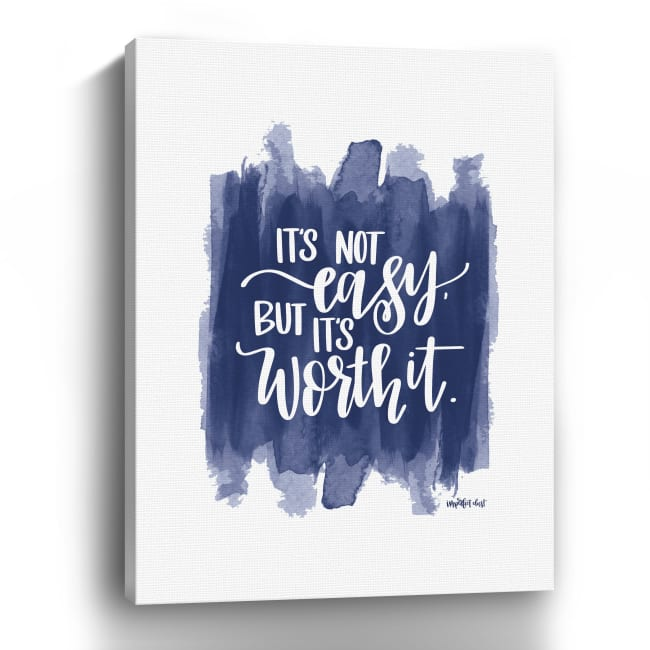 It's Not Easy Canvas Giclee