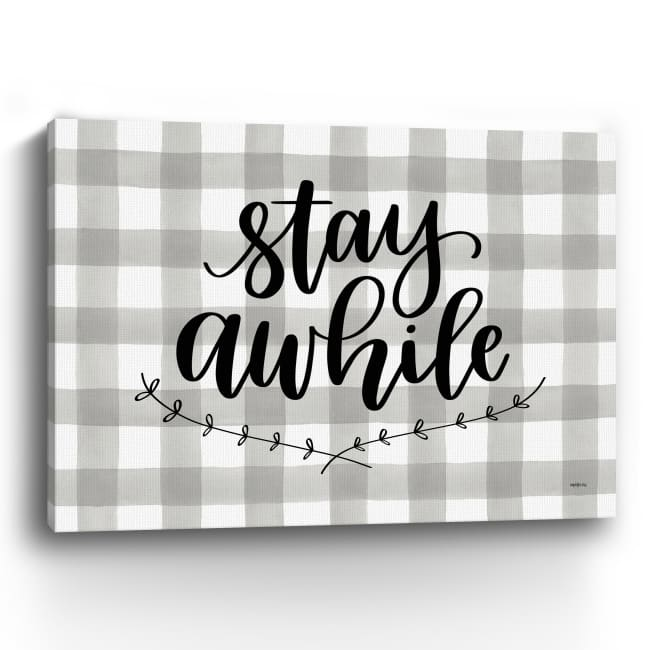 Stay Awhile Canvas Giclee