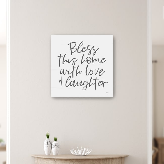 Bless This Home Canvas Giclee