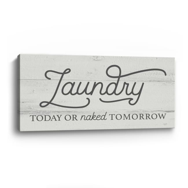 Laundry Today Canvas Giclee