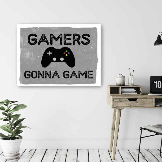 Gamers Gonna Game Canvas Giclee