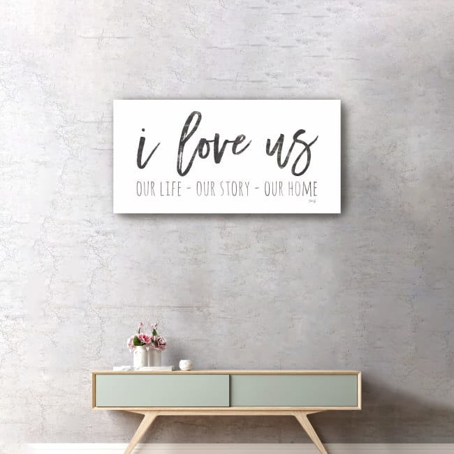 Our Life - I Love Us I Canvas Giclee