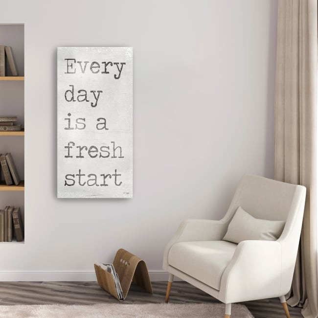 Every Day is a Fresh Start Canvas Giclee