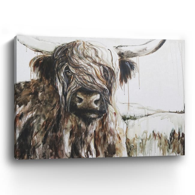 Highland in the Breeze Canvas Giclee