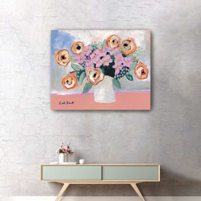 Orange Sherbet Canvas Giclee