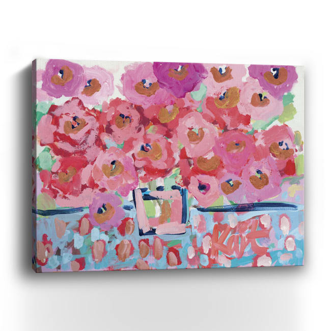 Electric Bloom Canvas Giclee