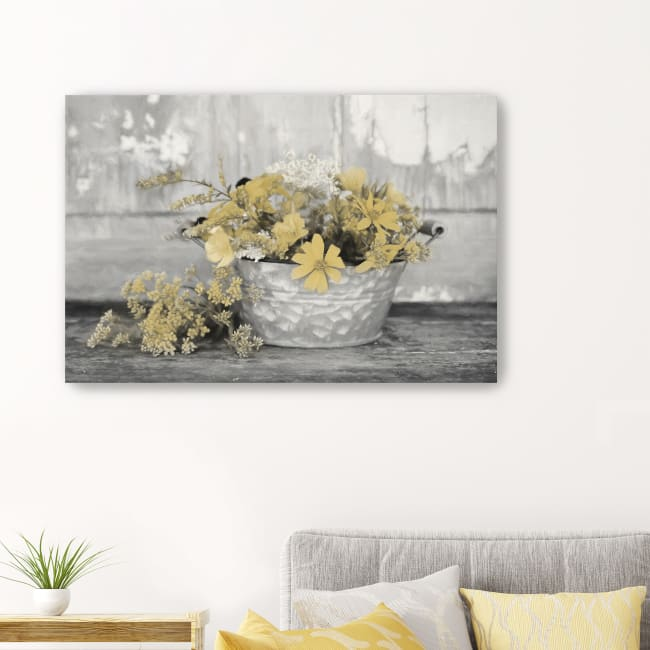 Gold Wildflowers I Canvas Giclee