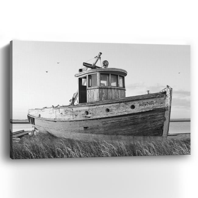 This Old Boat I Canvas Giclee