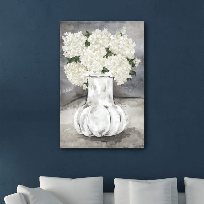 Snowball Hydrangea Canvas Giclee