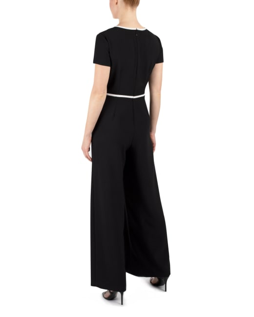 DR Black/White Trimmed Jumpsuit