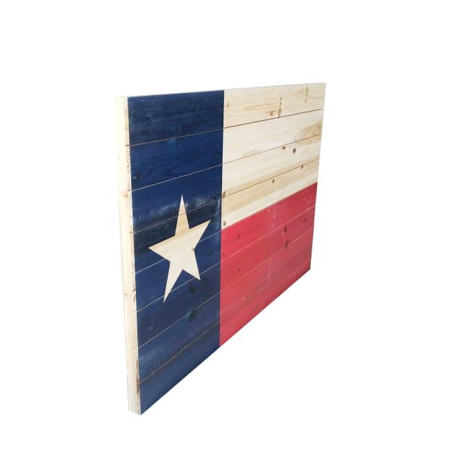 Texas Flag 24x36 Print on Wood Wall Art