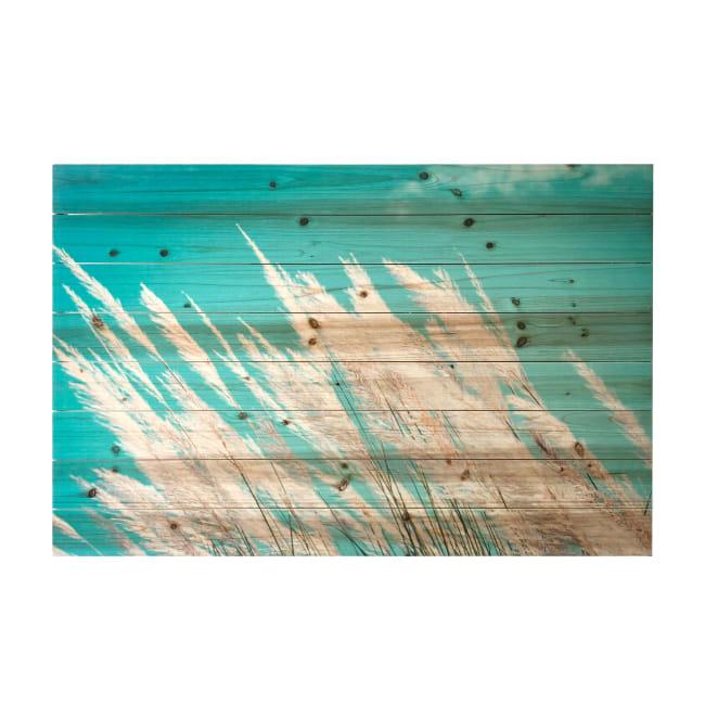Pampas Grassy Field 24x36 Print on Wood Wall Art