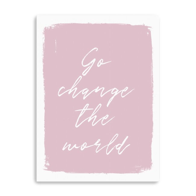 Go Change the World Canvas Giclee