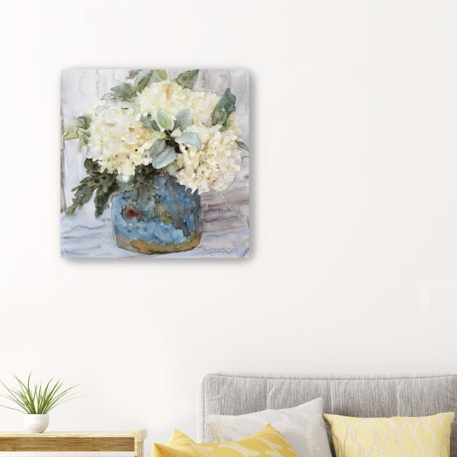 Country Basket of Blooms I Canvas Giclee