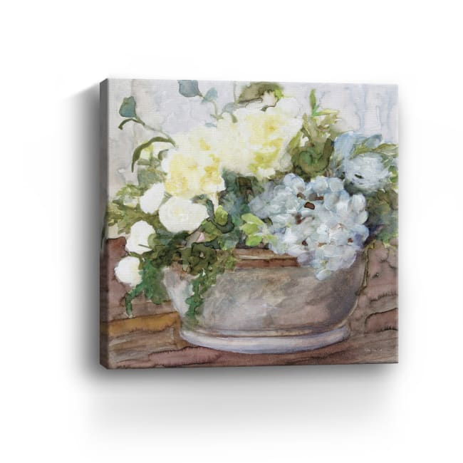 Country Basket of Blooms II Canvas Giclee
