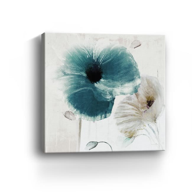 Teal Poppies II Canvas Giclee