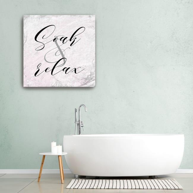 Soak & Relax Canvas Giclee