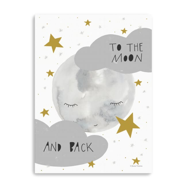 Moon and Back Canvas Giclee