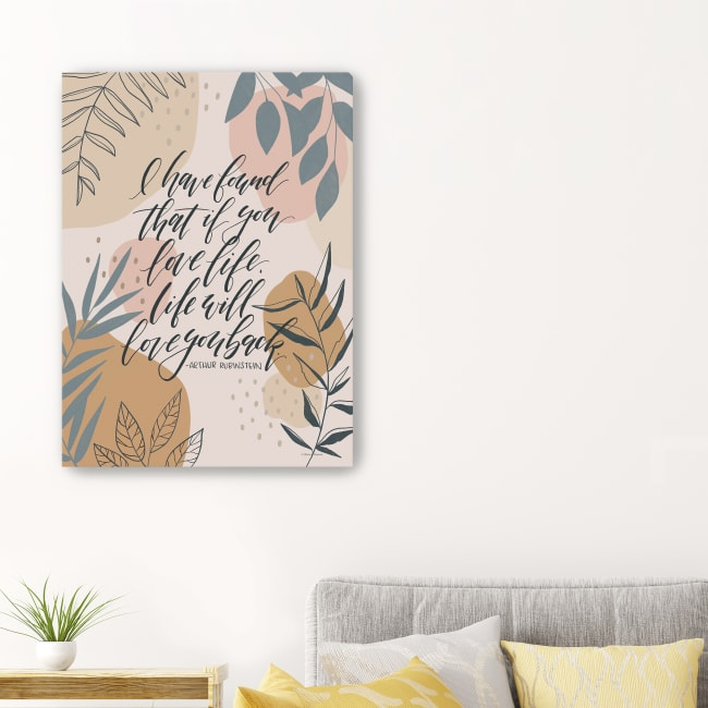 Love Life Canvas Giclee