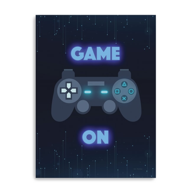 Game On Canvas Giclee