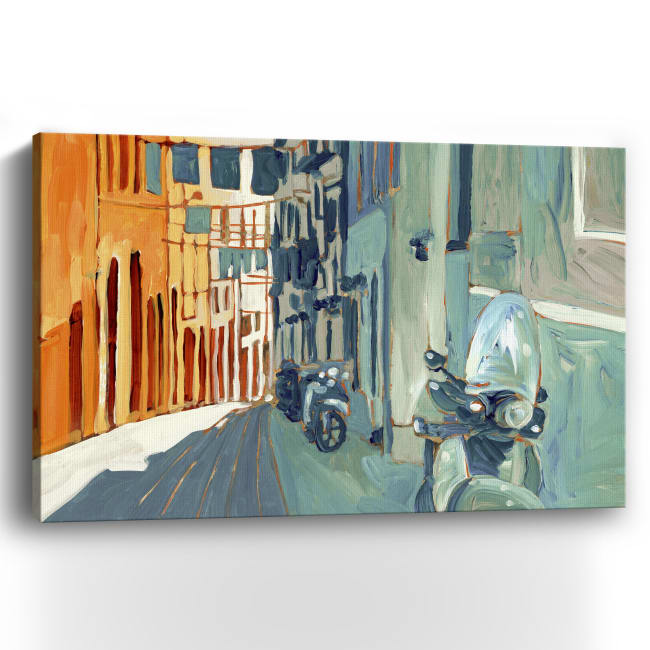 Napoli Street Canvas Giclee