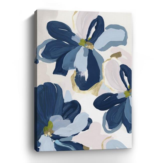 Cobalt Florals II Canvas Giclee