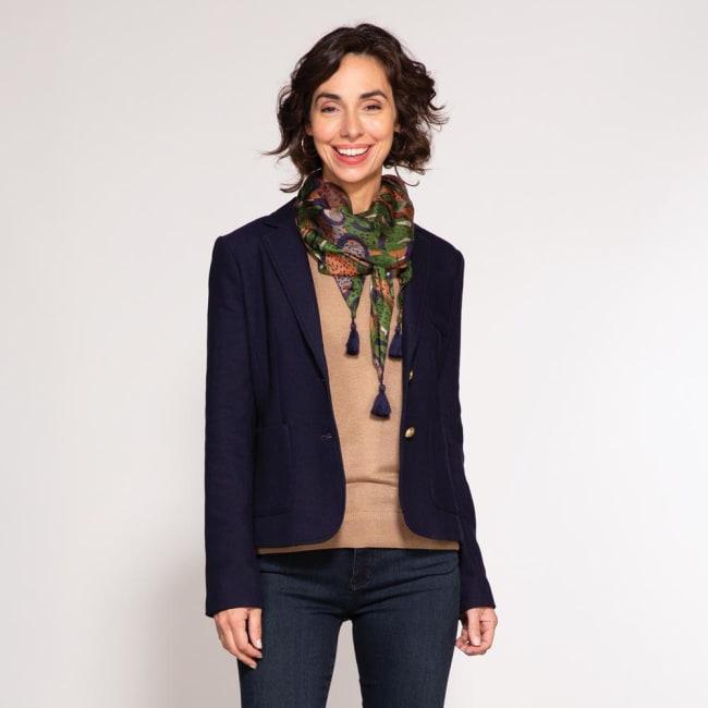 Mackenzie Green Silk Scarf