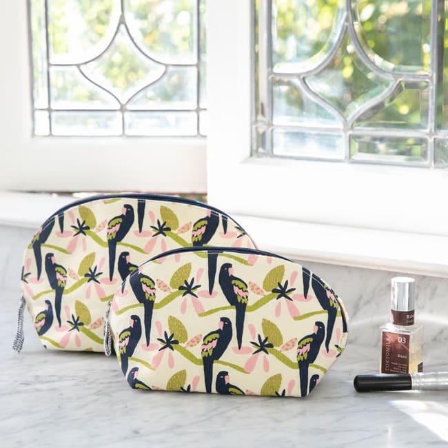 Tropical Parrot Cosmetic Bag Set 2