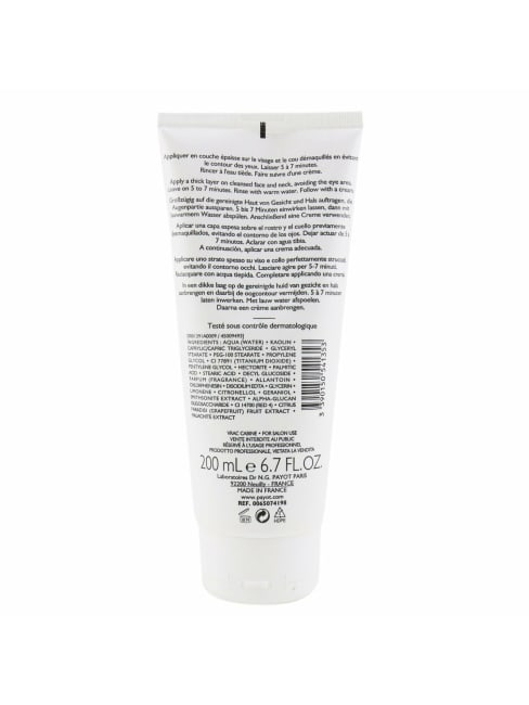 Payot Women's For Normal To Combination Skins (Salon Size) Les Demaquillantes Masque D'tox Detoxifying Radiance Mask