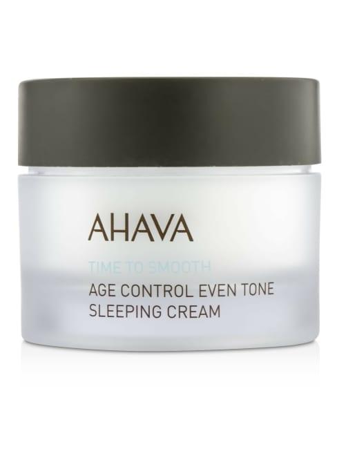 Ahava Men's Time To Smooth Age Control Even Tone Sleeping Cream Balms & Moisturizer