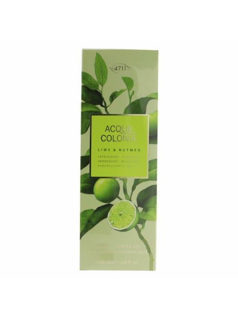 4711 Women's Acqua Colonia Lime & Nutmeg Aroma Shower Gel Bath And Aids