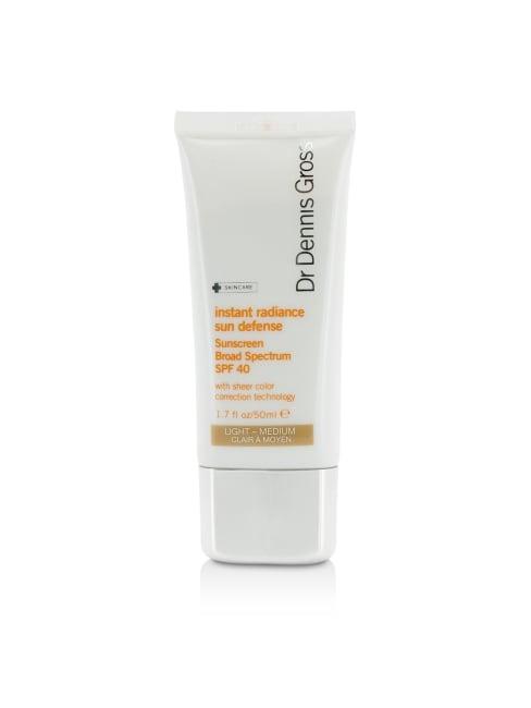 Dr Dennis Gross Women's Light-Medium Instant Radiance Sun Defense Sunscreen Spf 40 Self-Tanners & Bronzer