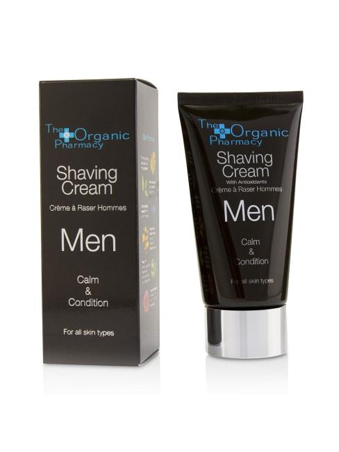 The Organic Pharmacy Men's Calm & Condition Men Shaving Cream Grooming Set