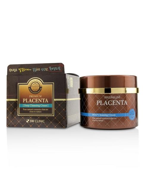3W Clinic Women's Premium Placenta Deep Cleansing Cream Face Cleanser