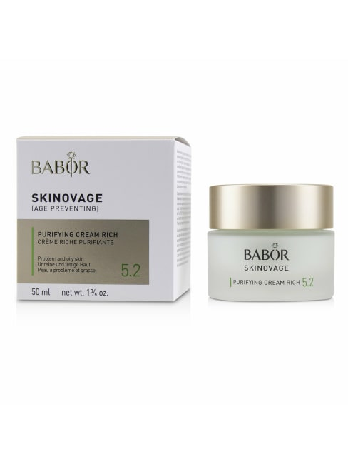 Babor Men's For Problem & Oily Skin Skinovage [Age Preventing] Purifying Cream Rich 5.2 Balms Moisturizer