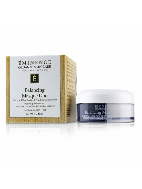 Eminence Men's For Combination Skin Types Balancing Masque Duo: Charcoal T-Zone Purifier & Pomelo Cheek Treatment Mask