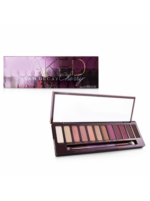 Urban Decay Women's Naked Cherry Eyeshadow Palette: 12X Eyeshadow, 1X Double Ended Brush Set