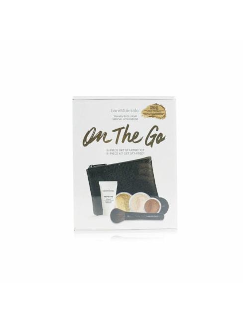 Bareminerals Women's # Medium Beige 12 On The Go 6 Piece Get Started Kit Brush Set