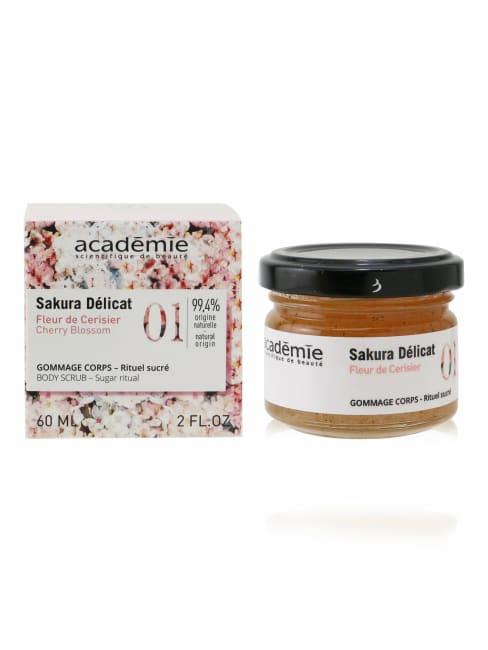 Academie Women's Sugar Ritual Cherry Blossom Body Scrub Care Set